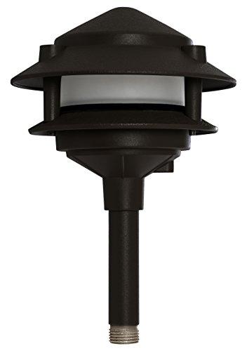 Westgate LED Pagoda Landscape Light-Pathway Light with Integrated LED-Aluminum Housing Bronze Finish-3 Year Warranty