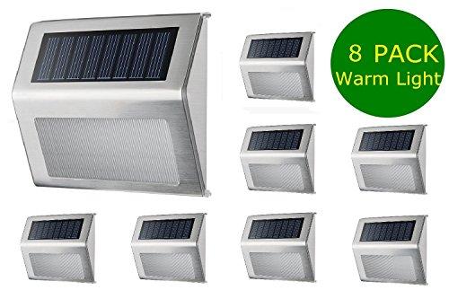 Warm White Solar Light Simpra Outdoor Stainless Steel Led Solar Step Light Illuminates Stairs Deck Patio