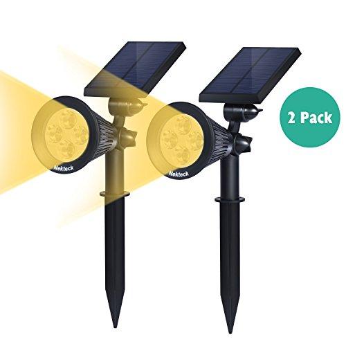 Nekteck Solar Powered Garden Spotlight - Outdoor Spot Light For Walkways Landscaping Security Etc - Ground