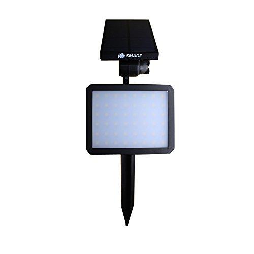Smadz Sl51 2-in-1 Wall  In-ground Solar Powered Led Spotlight 90&deg Adjustable Waterproof Outdoor Landscape Lights