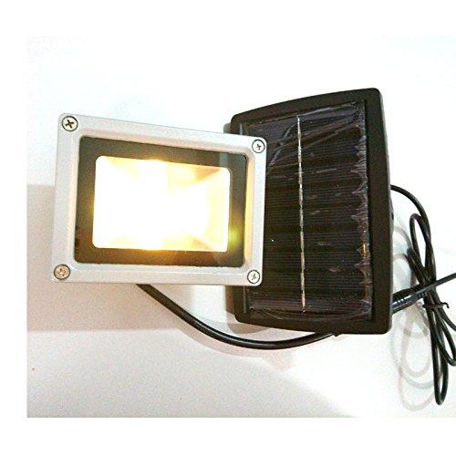 QCLED 10W Solar Led Flood Night Light Garden Spotlight Waterproof Outdoor Lamp warm white