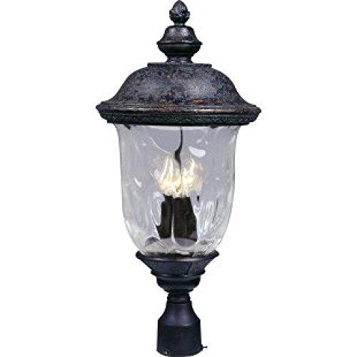 Maxim Lighting 3420wgob Carriage House Dc 3-light Outdoor 265-inch Polepost Lantern Oriental Bronze Finish