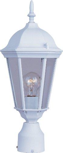 Maxim Lighting 1001 Westlake Outdoor Polepost Mount Lantern White Finish 8 By 19-inch
