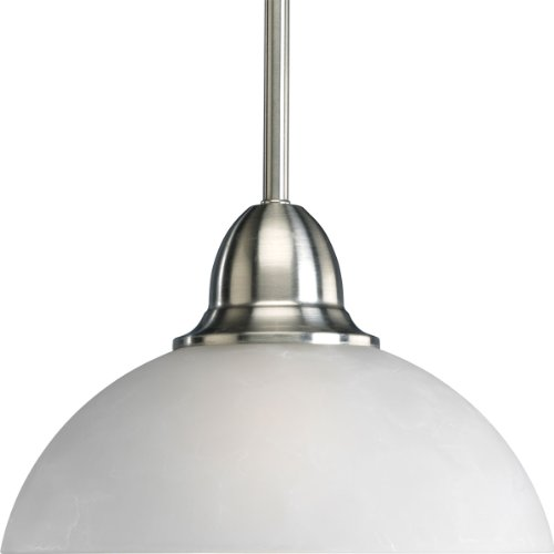 Progress Lighting P5125-09 1-light Pendant In Etched Watermark Glass With Traditional Values Twisted Wire Details