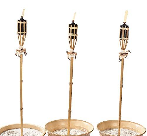Bambooamp Seashell Tiki Torches