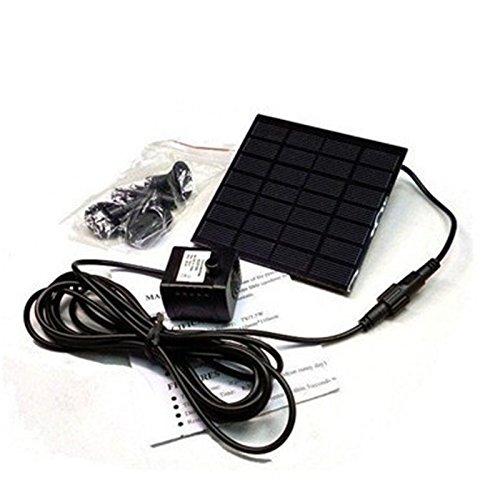 Adeeing Solar Power Water Pump Kit Garden Birdbath Fountain With Separate Solar Panel 12W