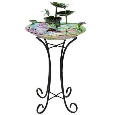 Beckett Corporation Dragonfly Birdbath Fountain with Pump Multicolor