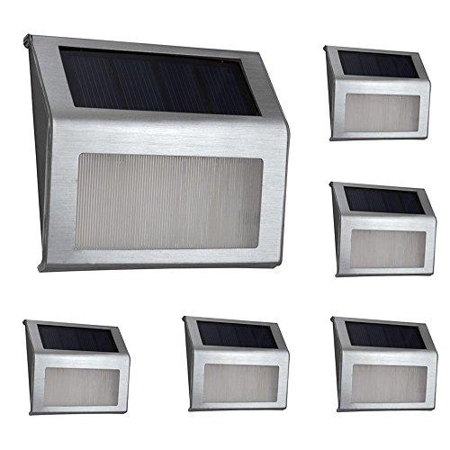 warm Light Xlux S60 Solar Stair Step Light Deck Lamp Waterproof 6 Pack