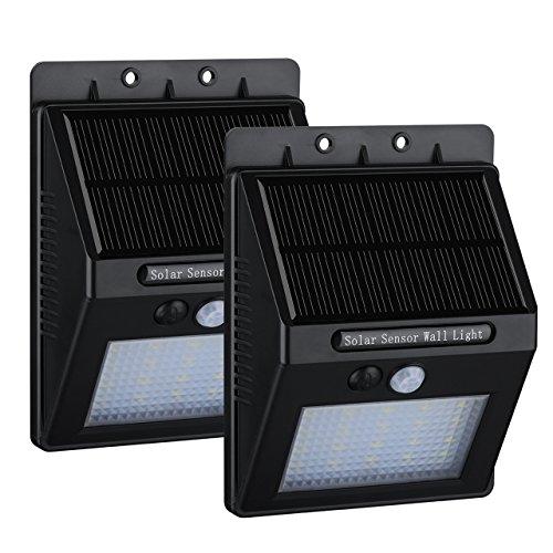 2 Pack 20 Led Solar Motion Light Homitt Outdoor Sensor Security Led Light For Garden Pathway Deck Stair 400