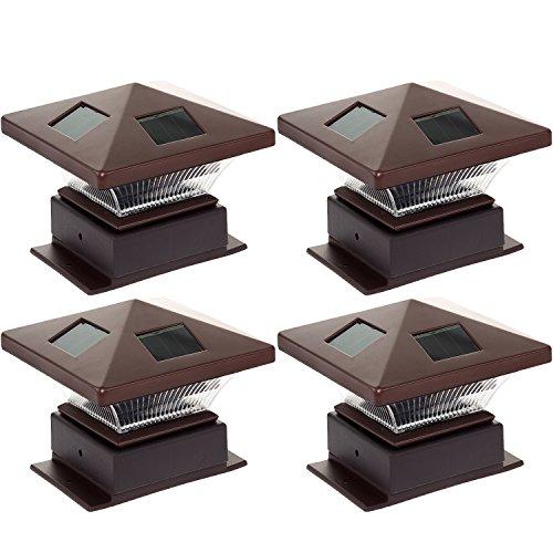 4 Pack Westinghouse 4 X 4 Pagoda Ii Solar Led Post Cap Light bronze