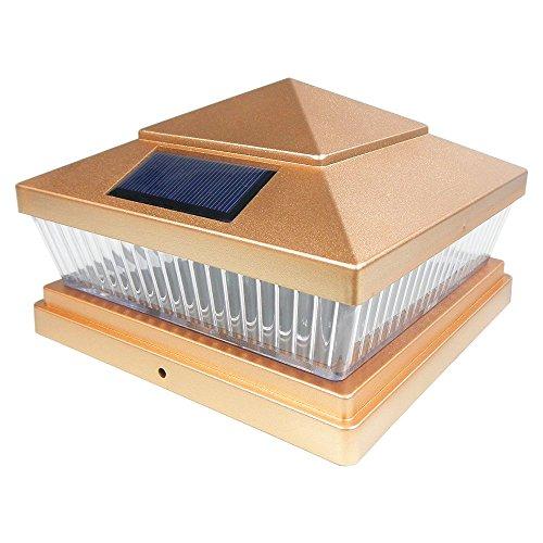 Iglow 8 Pack Copper Outdoor Garden 6 X 6 Solar Smd Led Post Deck Cap Square Fence Light Landscape Pvc Vinyl Wood