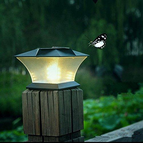 Solar Powered LED Post Cap LightOutdoor Garden 54 x 54 18 LED Post Deck Cap Square Fence Light Landscape Lamp Warm light