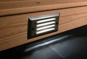 Pyxis Recessed Step Riser Deck Light 6w Led Bronze