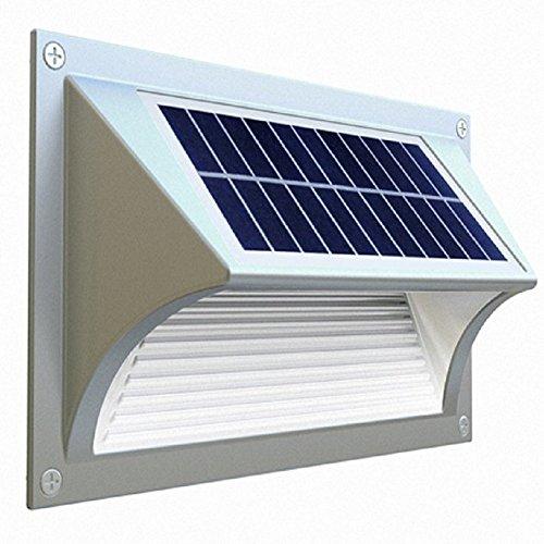 Generic Solar Power Wall Light Stair Light Deck Lamp Waterproof IP65 Die-Casting Aluminum Outdoor Porch Light Built-in Gyroscope
