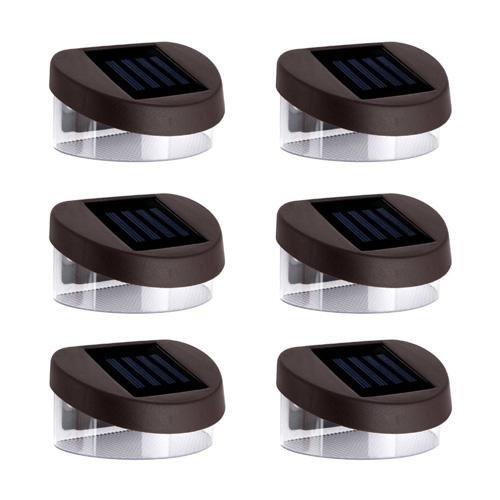 LightInTheBox 6pcs 2LED White Solar Lights Wall Stair Parapet Walkway Outdoor Deck Lamp