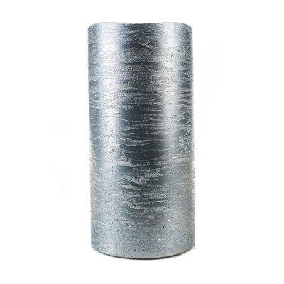 Metallic Collection Flameless Pillar Candle Color Ice Blue Size 8 H x 4 Diameter