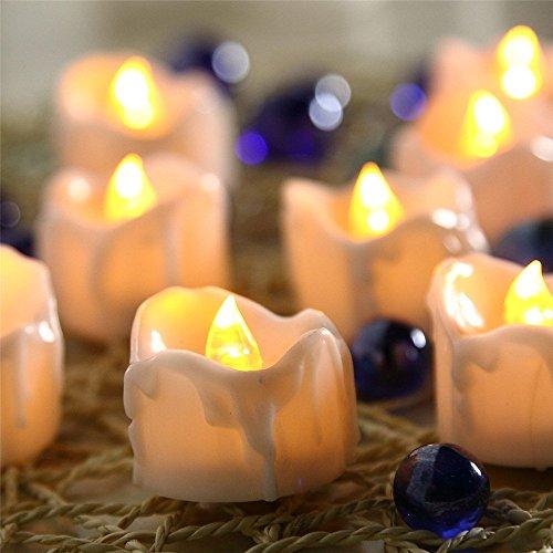 2 Naissance Bright Flickering Bulb Battery Operated Flameless Led Tea Light For Seasonalamp Festival Celebration