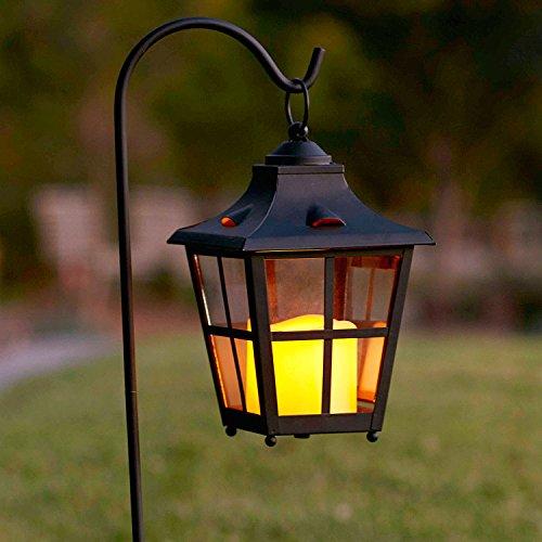 Shepherds Hook Battery Operated Flameless Led Candle Lantern Landscape Light