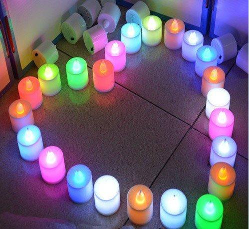 Hossen24 PCS 7 Color LED Electronic Candlequick Flash Candleflicker Electronic Flameless