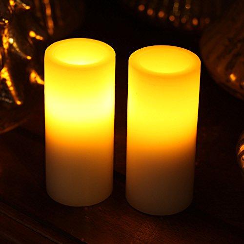 Led Candleshome Impressions Flameless Pillar Votive Led Candle With Timerwhite175x4 Inchesset Of 2
