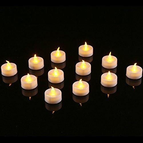 pack Of 12waynewon Led Flameless Fake Tea Light Candle Battery Operated - Electric Tea Light Candles- Beautiful