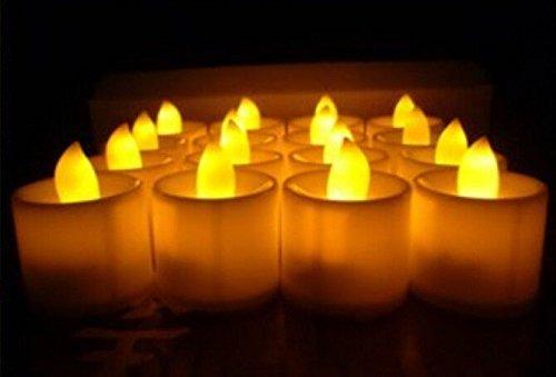 Tmalltide 27pcs Flameless LED Candles Romantic Wedding Party Battery Tealight With Box