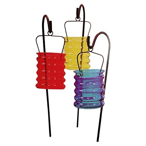 Creative Motion Garden Gate Designs 3-Piece Glass Candleholders Set