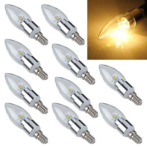 Lamp - TOOGOOR 10x E14 6 5630 SMD LED candle lamp bulb Energy Saving Lamp Spotlight 3W warm white