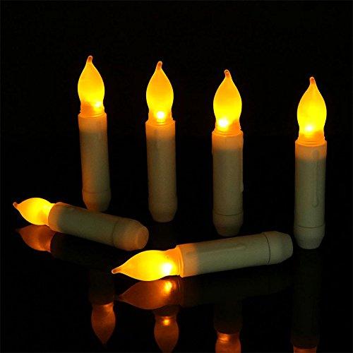 DishyKooker 12PcsSet Smokeless Home Holiday Wedding Decoration Removable LED Candles Short Bulb Head 21115cm