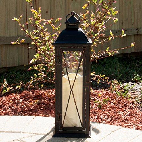 Smart Design Siena Metal Lantern With Led Candle