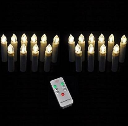 Hanperal 20 Pcs Led Flameless Taper Candles With Remote for Home Decoration christmas Holiday