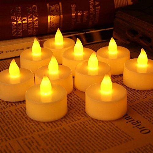 24pcs Flameless Candles Tealight Bulk Tea Lights Battery Operated Led Lantern Warm White Party Festival Event