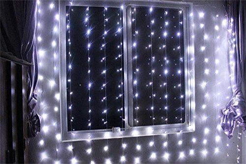 Curtain Light  IMAGE Curtain Light 224led 98ft66ft Christmas Festival Curtain String Fairy Wedding Led Lights for Garden Wedding Party Window Home Decorative White