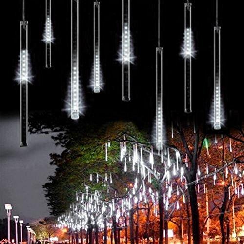 Omgai 30cm 8 Tubes 144 Led Meteor Shower Rain Lightsdropicicle Snow Falling Raindrop Cascading Lights For Wedding