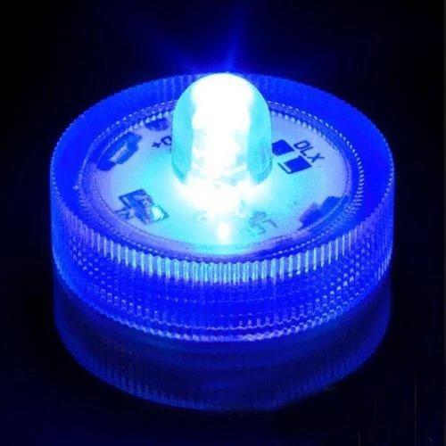 Sunbowstar 36pcs Submersible Battery Led Lights White Wedding Tea Lights Blue