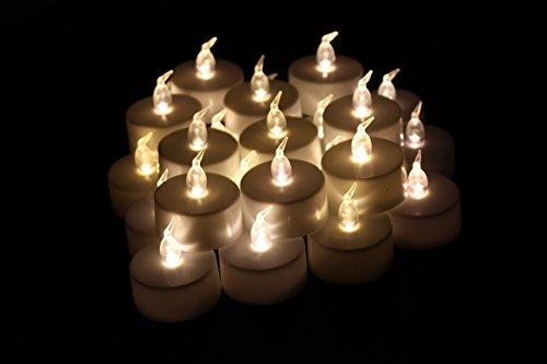 Led Tea Lights Jofan 24pcs Warm White Non-flickering Flameless Candle Led Tealights For Birthday Wedding Restaurants