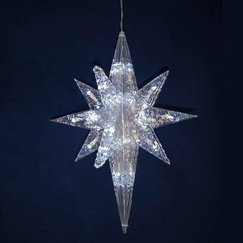 19&quot Lighted Led White Bethlehem Star Hanging Christmas Decoration