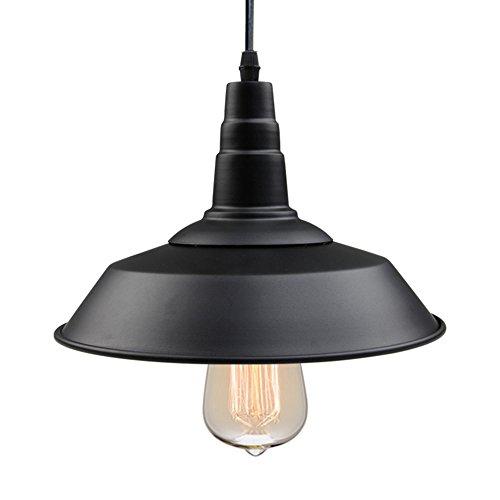 LNC Black Pendant Lighting Indoor Ceiling Lights Hanging Lamp for Kitchen Island Farmhouse Warehouse Barn