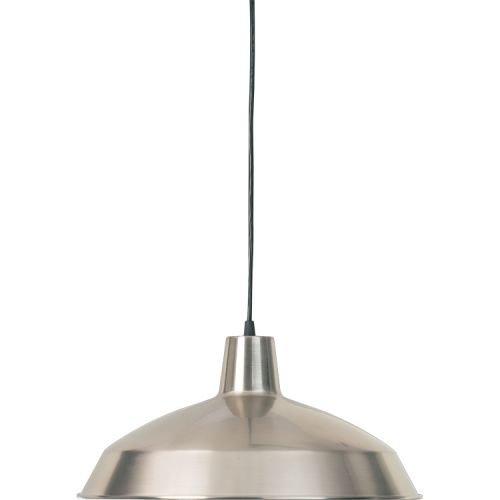 Quorum International Q6822 1 Light Barn Light Pendant with Metal Dome Shade Satin Nickel