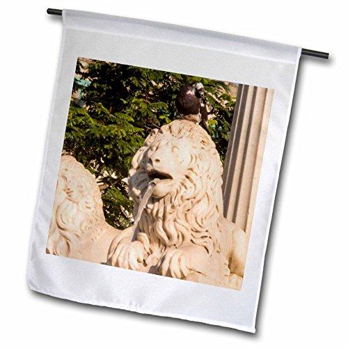 Danita Delimont - Cuba - Cuba Havana Lion fountain Plaza de Armas - 18 x 27 inch Garden Flag fl_226547_2