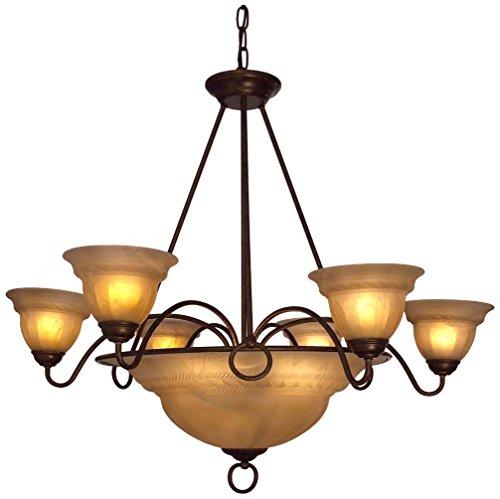 Classic Lighting 40109 EB CRM Livorno Traditional Light Pendant 35 x 35 x 34 English Bronze with Cream Glass
