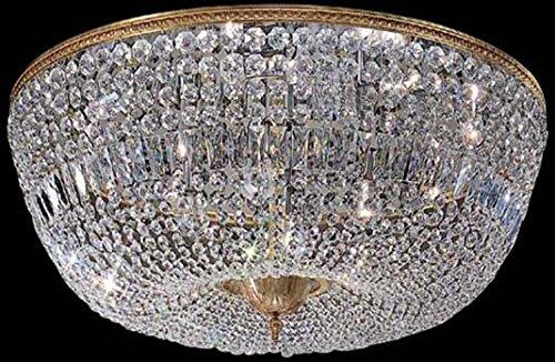 Classic Lighting 52036 OWB I Crystal Baskets Crystal FlushSemi-Flush Olde World Bronze