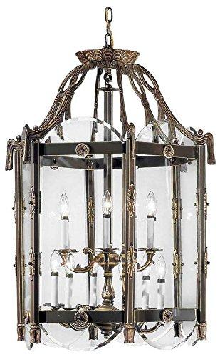 Classic Lighting 7951 VBZ Charleston Cast Brass Lantern Victorian Bronze