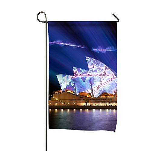 Rongx Classic Lighting Sydney Opera House Double-Sided Garden Flag - 12W x 18 H