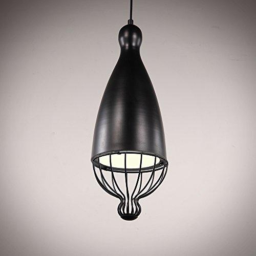 NATSEN Vintage Pendant Light Industry Ceiling Lighting with 1 Light Metal Chandelier Ceiling Lights for Dining Room Kitchen Bedroom Black Lampshade