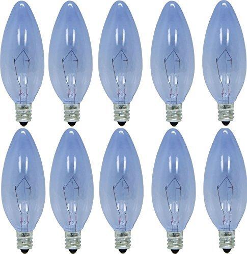 GE Lighting 74979 25-Watt 135-Lumen Blunt Tip Light Bulb with Candelabra Base 10-Pack Size Reveal Blunt Tip 10-Pack Style 25W Cac 135-lmns Model 74979 Outdoor Hardware Store