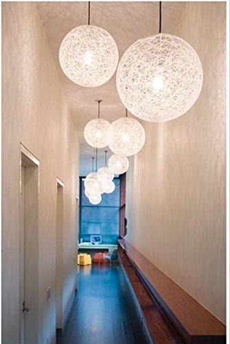 HYY Modern minimalist chandelier white bedroomliving roomdining roomchandelier vines Twine Ball pendant-black  ¦Õ400