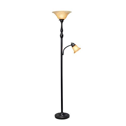 Elegant Designs LF2003-RBA 3 Light Floor Lamp Restoration BronzeAmber