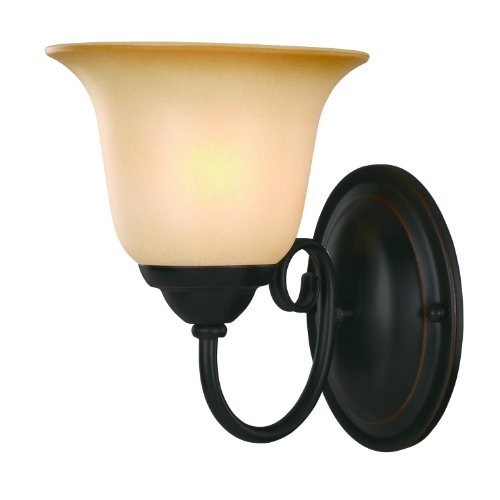 Hardware House Essex Series 1 Light Oil Rubbed Bronze 5 Inch by 8-14 Inch BathWall Lighting Fixture  16-3675