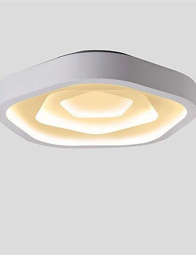 WCG Modern Style Simplicity LED Ceiling Lamp Flush Mount Living Room Dining Room Bedroom Kids Room light Fixture  white-220-240v